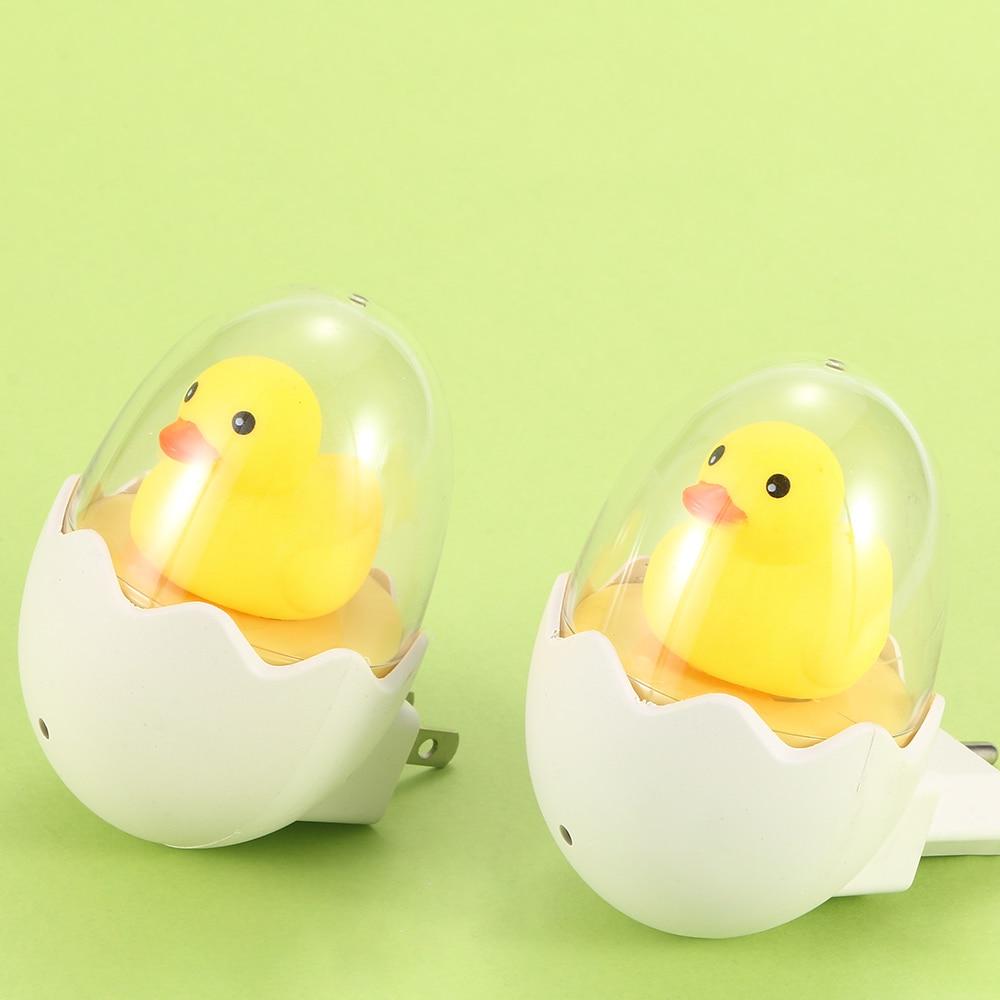 Novelty LED Cute Children Favor Night Light Dimmable Yellow Duck Bedside Lamp