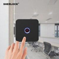 Sherlock parmak izi kilidi Akıllı Kilit cam kapi Kilit Ofis Anahtarsız Bluetooth APP Uzaktan Kumanda elektronik dış kapı kilidi F1