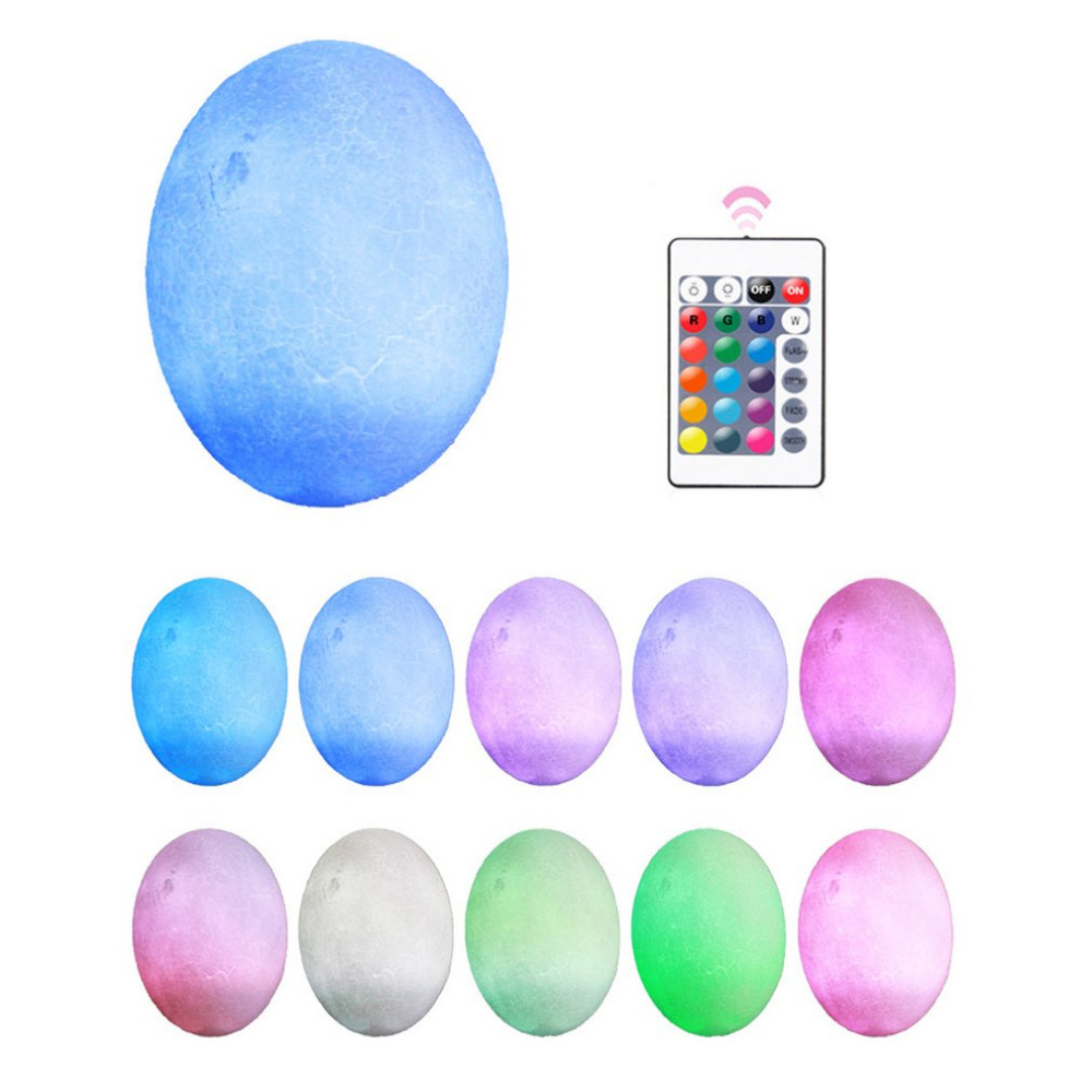 Lamp Method Price 10 13 15 18cm Dinosaur Egg Light 3d Printing Lamp Night Light Touch Pat Remote Control Pla Material Home Office Decoration Gift