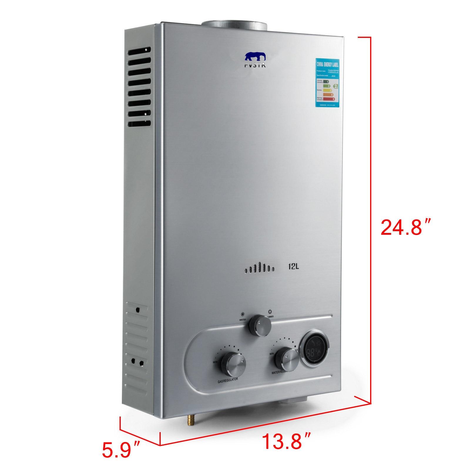 (NZ, AU) livraison gratuite offres spéciales chauffe-eau portable CE Lgp instantané/sans réservoir 6-18L Lpg chauffe-eau Propane inoxydable 2800pa - 3