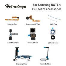 Get more info on the Power on/off Flex For Samsung Galaxy Note 4 N910 Back Camera+Home Button+Charging Port USB Dock Mobile Phone Flex Cables