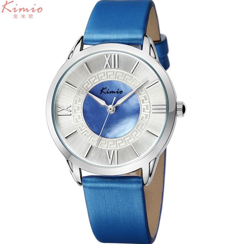 KIMIO women quartz watches leather dress watch fashion design ladies wristwatch roman number 2017 luxury brand female gift clock 2016 luxury wristwatch women quartz watch leather ladies watches black face