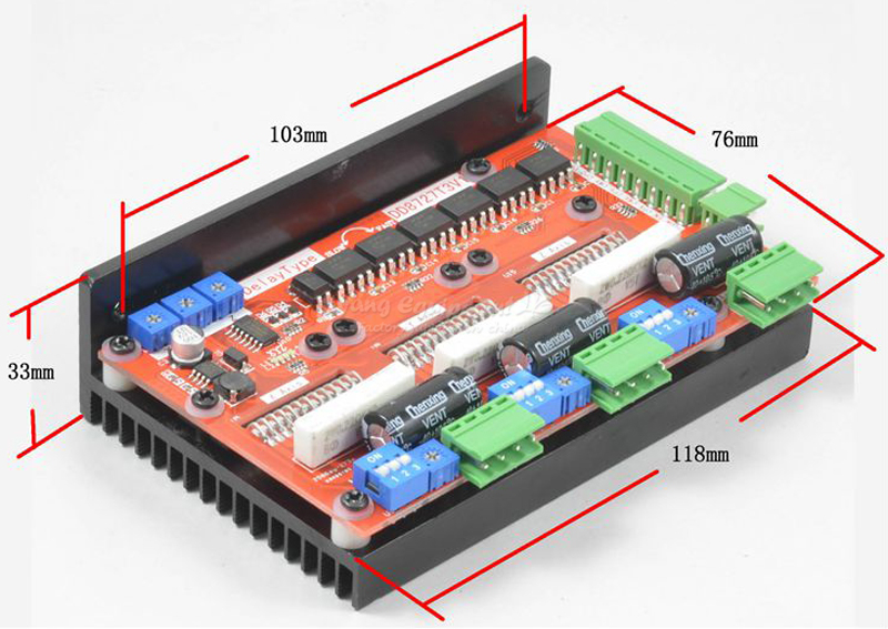 3 axis 2 phase stepper motor driver 4A128 subdivision LV8727 C00156 nema24 3nm 425oz in integrated closed loop stepper motor with driver 36vdc jmc ihss60 36 30