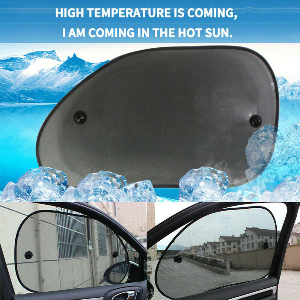 Image 4 - 2x Car Rear Side Window Mesh Sun Visor Shade Cover Shield UV Protector 65*38cm-in Windshield Sunshades from Automobiles & Motorcycles