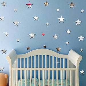 20Pcs/set 3D Wall Stickers Wall Decal Star Paper Home Decor
