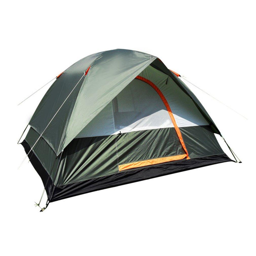 3-4 personne Coupe-Vent Tente de Camping Double Couche Imperméable Ouvert Anti-uv Touristique Tentes Pour La Randonnée En Plein Air Plage Voyage Tienda