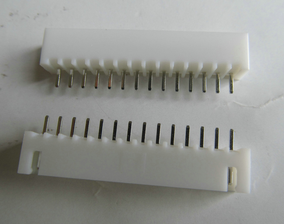 100 pcs White 14 pins XH2.54 male straight pin socket connector terminals pitch 2.54mm 14P Header IDC plug for PCB Wire Box Bar
