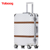 Toboog 2017 Hotsale Vintage aluminium frame universele wielen trolley bagage 26