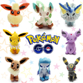 Eevee Plush Set Peluche Pokemon Go Plush Toy Kawaii Stuffed Pokemon Plush Eevee Vaporeon Glaceon Jolteon Leafeon Anime Dolls