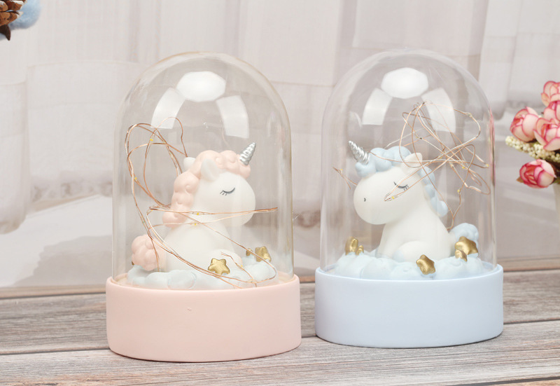 Cartoon LED Night Light Luminaria Garland Fairy String Lights Novelty Unicorn Night Lamp Bedside Lamp For Kids Christmas New Year Gift (3)