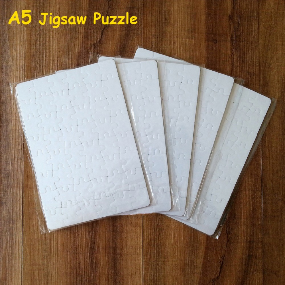 Free Shipping Sublimation Blank Puzzle 10pcs/lot DIY Craft A5 Jigsaw Puzzle For Sublimation Ink Transfer