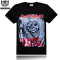 Iron Maiden Bestia Rocksir Marca Banda de Rock T-shirt de Algodón de Alta Calidad Camiseta de Los Hombres T-shirt Negro Corto Camisetas Tops ST22