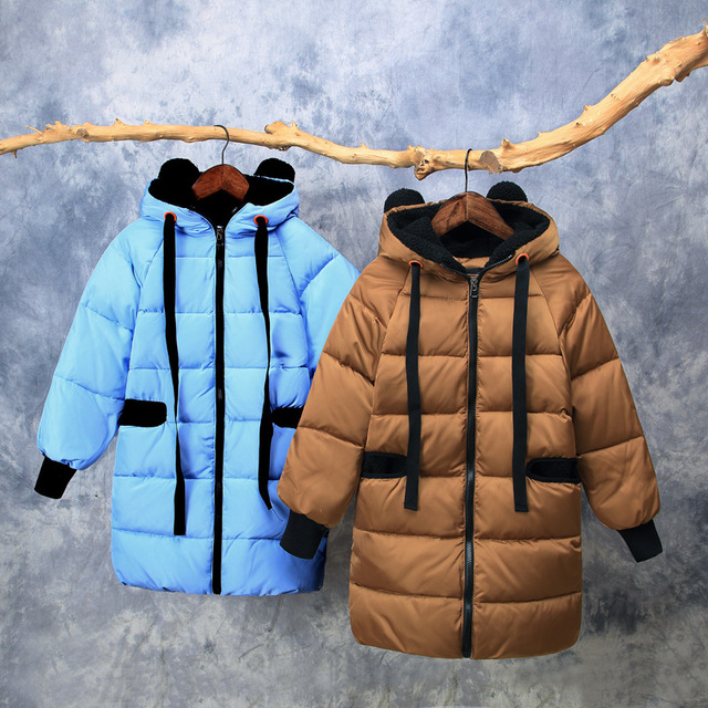 Big Promo Heavy kids winter coat  90% down coat Girls winter coats Thicken Girls outfit size10  Boys winter jacket Cute Hooded overcoat