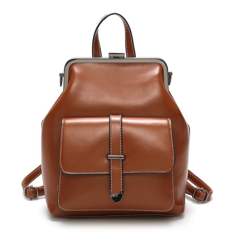 Leftside Brand Retro Hasp Back Pack Bags Pu Leather Backpack Women School Bags For Teenagers Girls Luxury Small Backpacks #6