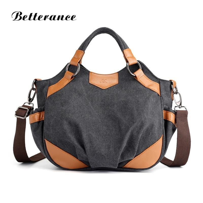 Betterance canvas tote bags for women 2018 handbags sac a main haute qualite femme crossbody bags for women large capacity