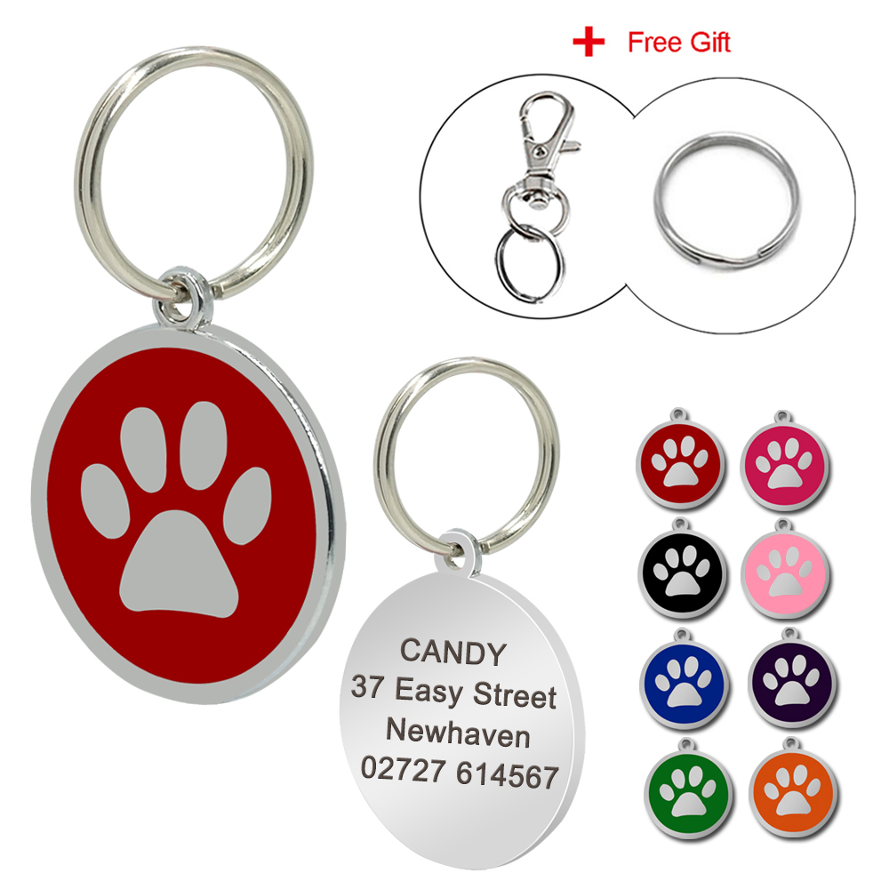 Us 1 99 Customized Dog Tag Personalized Engraved Dogs Cat Id Tags Pet Collar Pendant For Kitten Puppy Chihuahua In Id Tags From Home Garden On