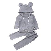 цена Baby Clothes Toddler Kids Baby Girl Boy Hoody Pant Set Fashionable Concise Comfy Kid Clothes Set онлайн в 2017 году
