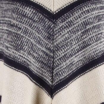 HEE GRAND Women batwing Sleeve Pullovers 2019 Autumn New Tassels Sweaters Fashion Geometric Knitted Outwear O-neck Cloak WZL1512 10