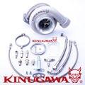 """Kinugawa Rolamento De Esferas Turbocompressor Boleto 4 """"GT3582R A/R. 89 T3 V-Band Externo"""