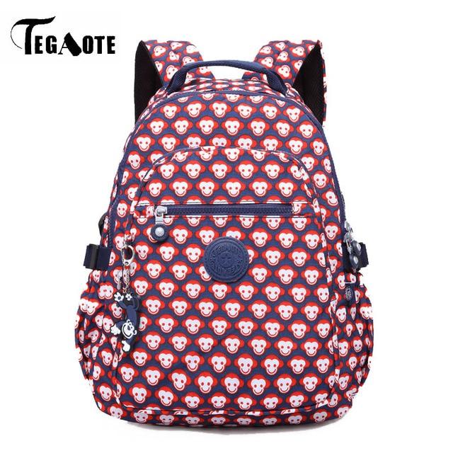 5c28fcb3da1b TEGAOTE Fashion Women Printing Monkey Backpacks teenage girl Nylon  Waterproof Laptop bags for college school bag