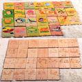 Envío Gratis 26 piezas de madera alfabeto Tarjeta de aprendizaje carta reconocimiento tarjetas de diversión, juguete educativo de madera para niños