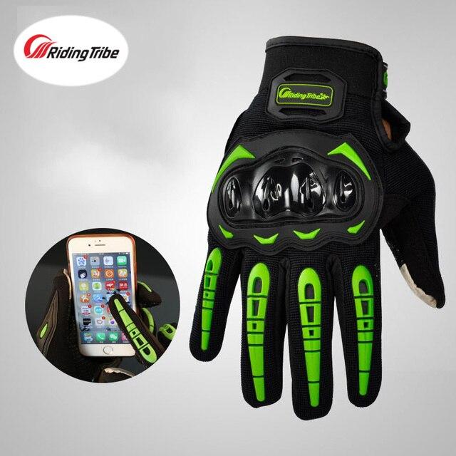 Luvas de motocicleta com toque sensível a tela, luvas de moto queiro guantes 4