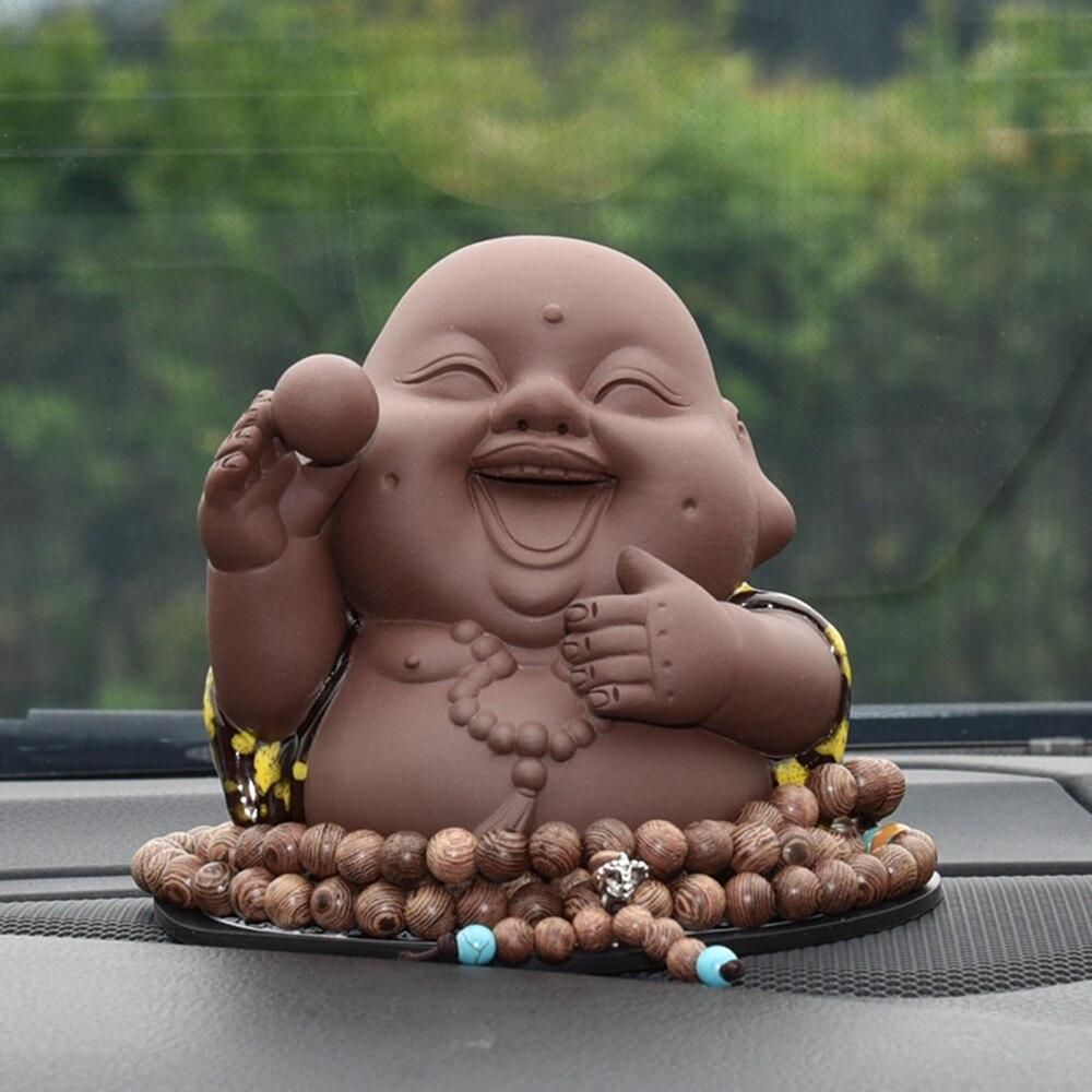 Aliexpress Com Buy Car Ornament Maitreya Buddha Figurine Cute Buddhist Automobile Interior