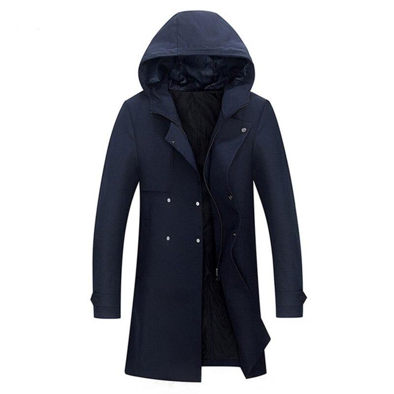 Chapeau Noir Vestes De Trench Style Jeunesse Automne Hommes Long Nouveau bleu Marque Coupe vent Casual Coat 2018 Manteaux Hiver Mode w7OUxxR