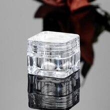 50 STÜCKE 5G Kosmetik Leere Glas Pot Schminke verfassungs gesichtscreme Behälter Flasche Acryl für Cremes Hautpflege produkte make up tool