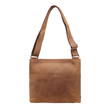 MS  Men's Crazy Horse Leather Vintage Zipper Single Laptop Messenger Shoulder Attache Portfolio Fashion Trend Shoulder  Bag T101