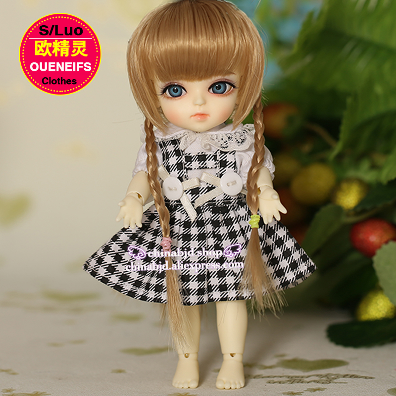 0c47e126a02 BJD SD Doll Clothes 1 8 Princess White T shirt And Black Mesh Strap Skirt  For Lati Yellow YF8 10 Doll Accessories-in Dolls Accessories from Toys    Hobbies ...