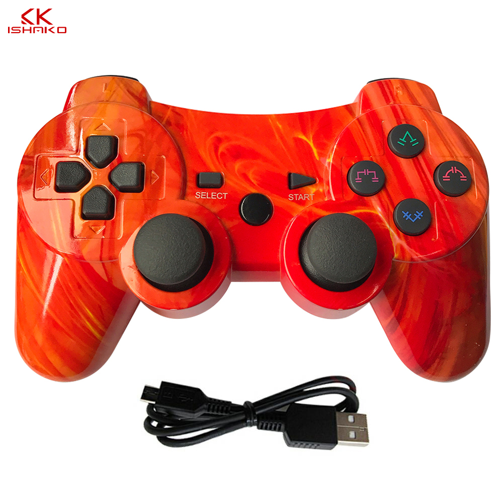 For sony ps3 controller Wireless Bluetooth Gamepad For PS3 Controller game Joystick Playstation Double vibration Console ipega-in Gamepads from Consumer Electronics