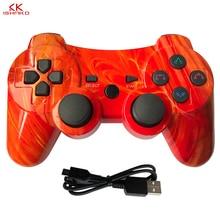 Para sony ps3 controlador sem fio bluetooth gamepad para ps3 controlador jogo joystick playstation dupla vibração console ipega