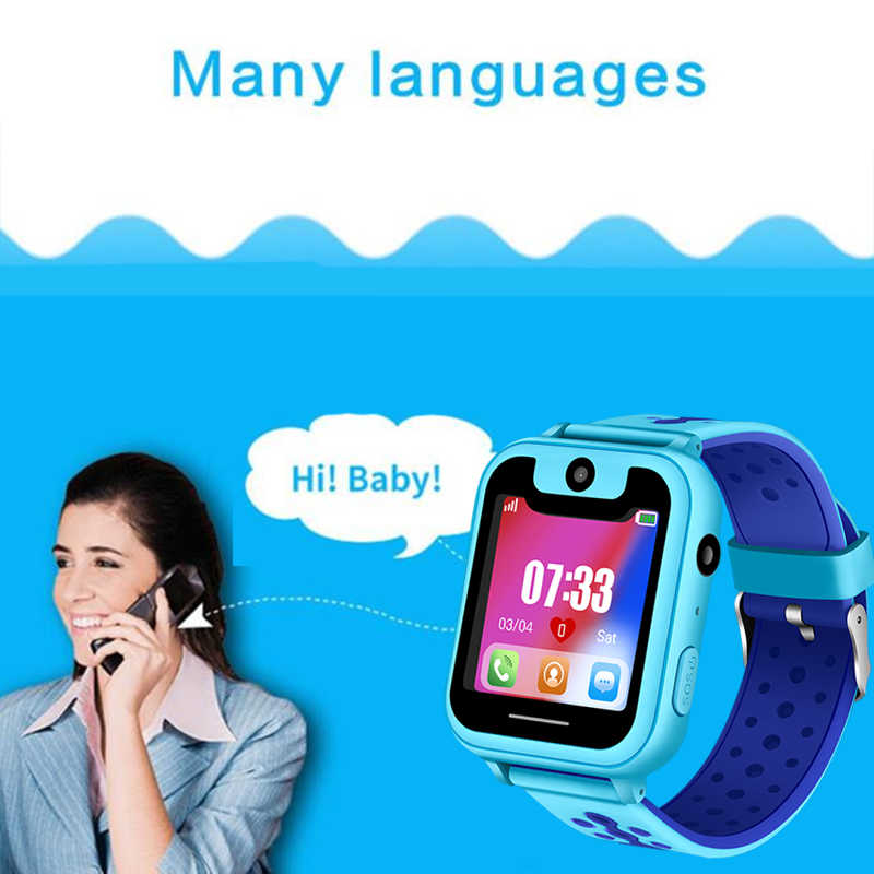 WISHDOIT2018 Hot children phone watch SOS Emergency call lighting watch LED color screen health and safety Kid positioning watch
