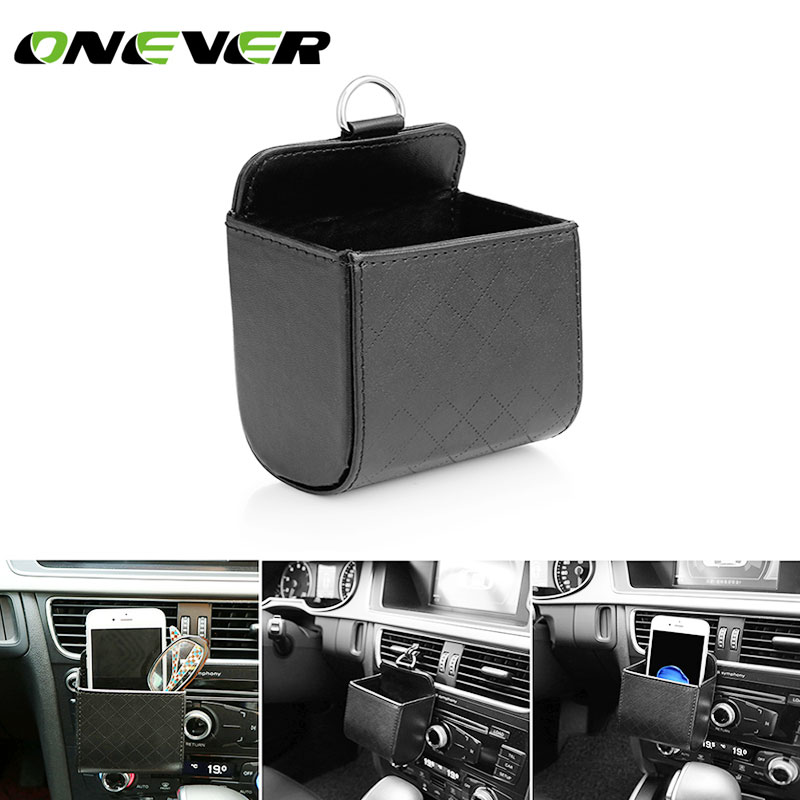Onever Car Air Vent Organizer Phone Glasses Cash Card Storage Box Holder Hanging Box for Phone Coin Headphones Keys Small Gadget