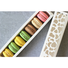 5 Pcs Baking Accessories White Cake Box Hollow Macaron Box Cookies Packaging Chocolate Muffin Box Wedding Party Decoration
