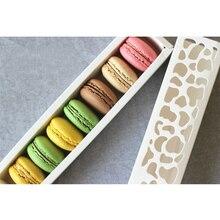 5 adet Pişirme Aksesuarları Beyaz Kek Kutusu Içi Boş Macaron Kutusu Çerezler Ambalaj Çikolata Muffin Kutusu Düğün Parti Dekorasyon