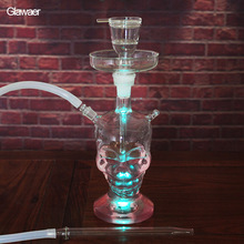 Glass Hookahs Top Fasion Punk Large Ghost Head Skull Style Glass Shisha narguile Water pipe Smoking Pipe portable Smoking Tool