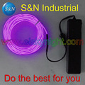 3 м фиолетовый Гибкий диаметр 2 3 мм EL Wire 2AAA активированный музыкальный инвертор для украшения праздника креативное использование Бесплатна...