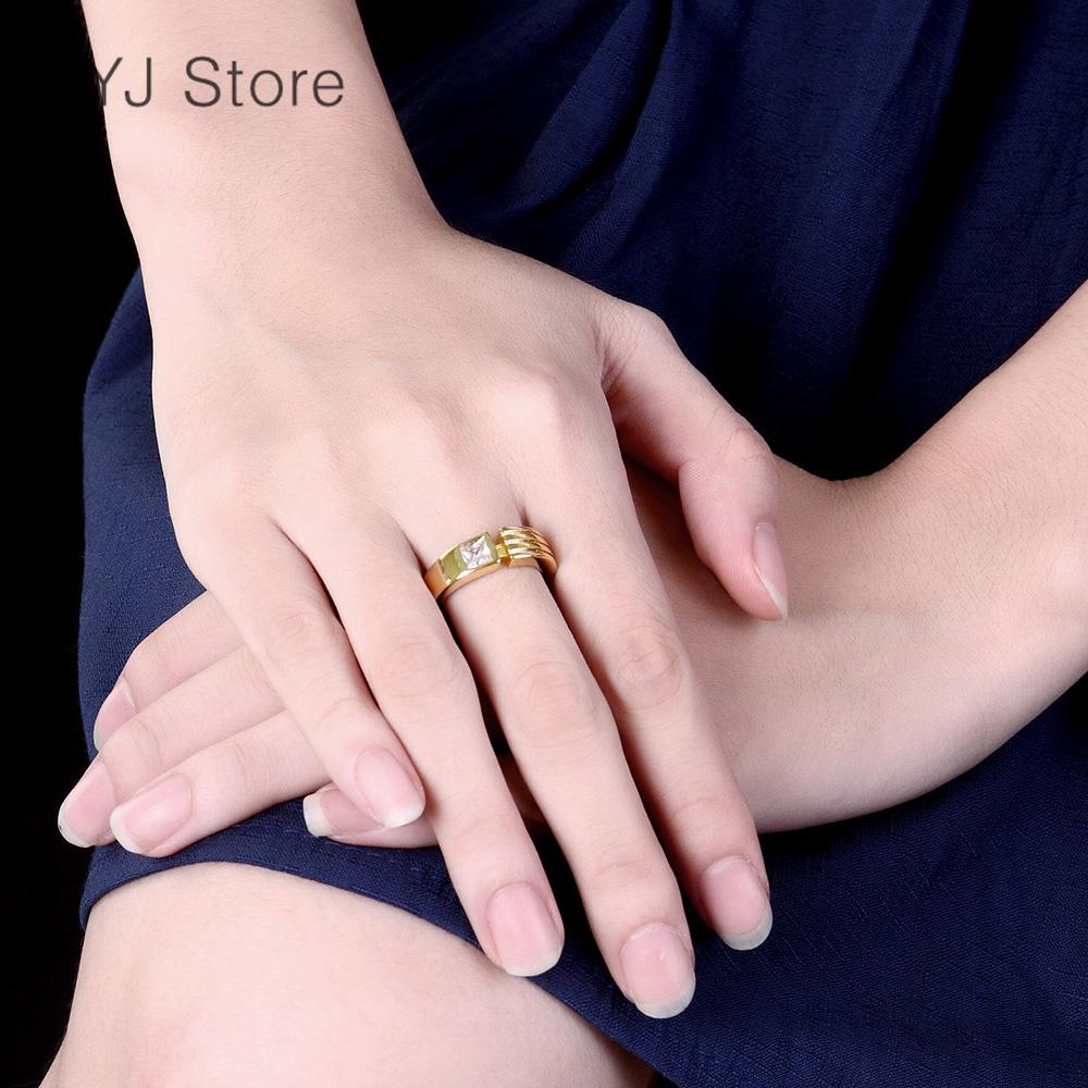 rose gold plated rings men gold rings men wedding engagement rings ...