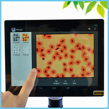 Best price 9.7 Inch Large Screen Digital Microscope HDMI Measuring Android Touchscreen Microscope Cell Counts Camera