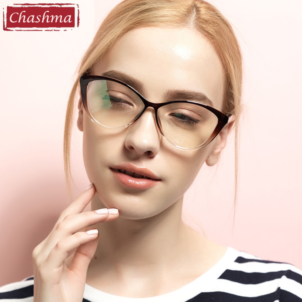 Chashma TR 90 Eyeglasses Cat Eyes Stylish Optical Glasses Frame for Women