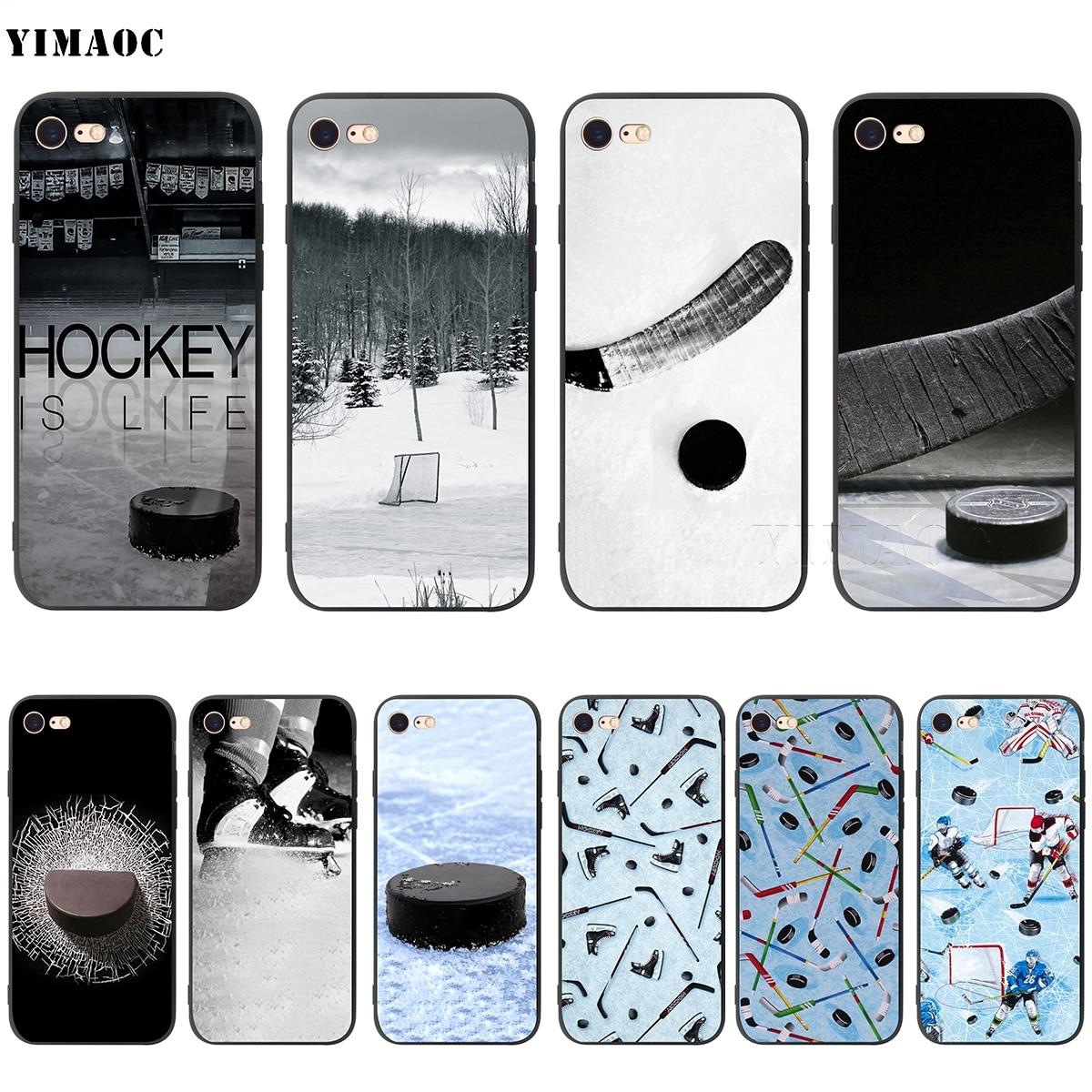 YIMAOC Ice Hockey Sport Soft Silicone Case for iPhone XS
