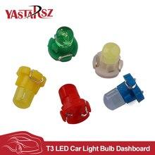 10x T3 LEDรถยนต์หลอดไฟคลัสเตอร์มาตรวัดของแดชบอร์ดสีขาว/สีเหลือง/สีฟ้า/สีแดง/สีเขียวinstrumentsแผงฐานสภาพภูมิอากาศโคมไฟแสง