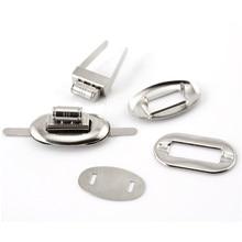 10 Sets Silver Tone Oval Alloy Fashion Frame Kiss Clasp Closure Lock Purse Twist Turn Lock Luggage Bag Accessories 32x17mm недорого
