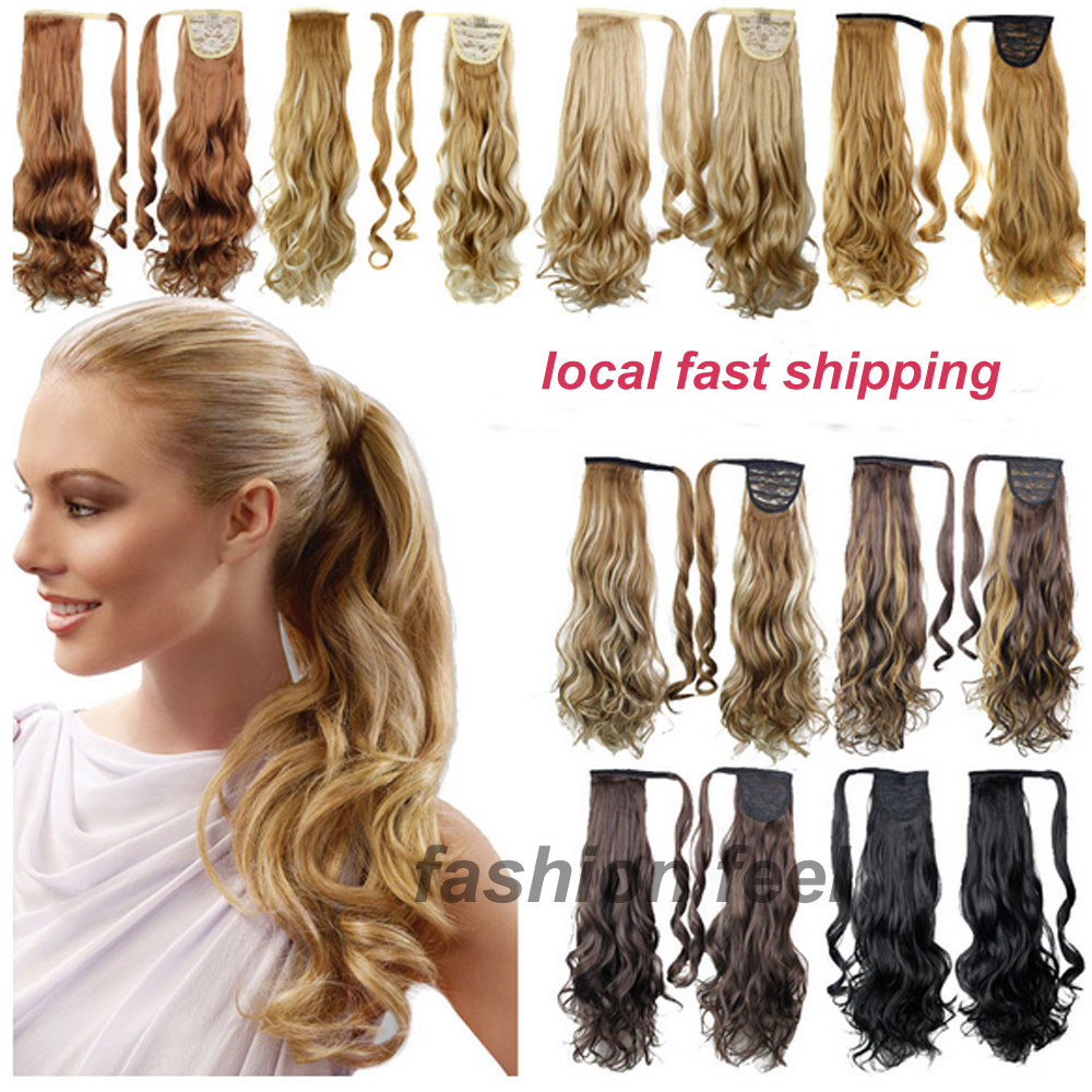 Local Shipping Real Quality Clip In Ponytail Pony Tail Hair