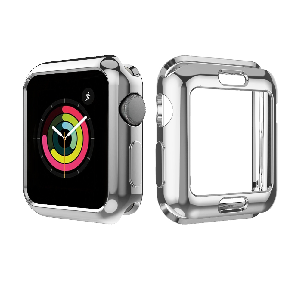 Image 5 - 5 Colors Soft TPU Full Protect Shell Case Cover for Apple Watch Series 3 2 1 38/42mm Cases Protector Ultra Thin Case for iWatch-in Smart Accessories from Consumer Electronics