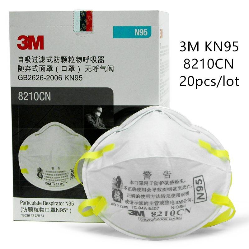 Anti 8210 Mask 5 Particles 3m Standards Dust 2 Pm 20pcs N95