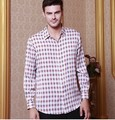2017 Высокого класса мужская шелковый 5 рубашка с длинными рукавами ханчжоу полноценно 100% шелковицы шелковая рубашка в шелковой атласной блокбастер