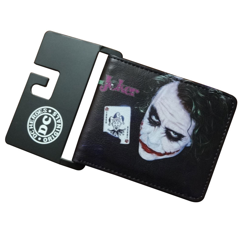New Designers Joker Wallets Anime Cartoon Joke Printed Purse Card Holder Money Bags Gift for Boy Girl Dollar Price Short Wallet lovely gravity falls cute cartoon wallets anime pu leather card holder purse dollar price creative gift kids zipper short wallet